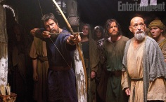 "Christian Bale y Ben Kinglsey en ""Exodus: Gods and Kings""."