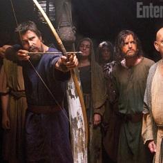 "Christian Bale y Ben Kinglsey en ""Exodus: Gods and Kings""."