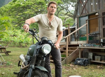 "Chris Pratt en ""Jurassic World""."